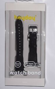 heyday Apple Watch black faux Leather Band 38/40 MM