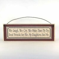 BEST FRIEND DAUGHTERS poem Mother's Day Sign Plaque, unique gift ideas for Mom!
