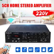 220V 920W 5 Channel Bluetooth Stereo Amplifier LED USB Disk/SD Home Receiver AV