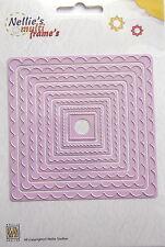Nellie Snellen multi Frame Dies- Wavy Square - craft, card making, MFD073