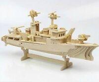 FD1945 DIY 3D Puzzle Woodcraft Construction Kit Wood Model Destroyer Ship 1 Set