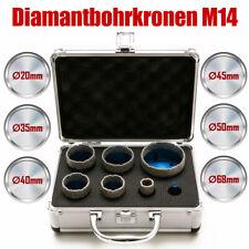 7tlg. Fliesenbohrer-Set Diamantbohrkronen Diamantbohrer M14 für Winkelschleifer