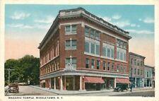 Autos C-1910 Masonic Temple Middletown New York Tichnor postcard 9855
