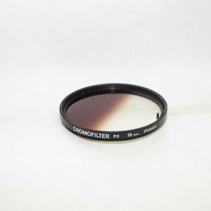 Graduated Cromofilter P2 Tabacco 55mm Lens Filter Made in France S332345