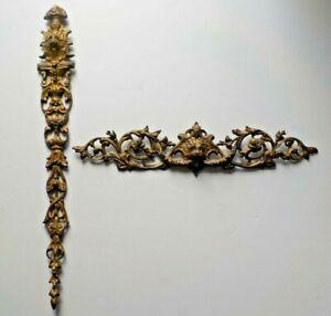 2 Antique Escutcheons Brass/Bronze Lions Head Decorative Furniture Door Hardware
