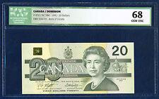 CANADA 20 DOLLARS PICK 58d BIRD LOON SEETAUCHER 1991 ICG 68 GEM UNC