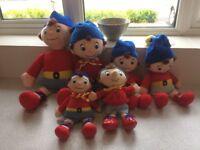 Set Of Six Used Noddy's 4 Boots Ragdolls/ 1 Blyton/ 1 BBC Plush Toys