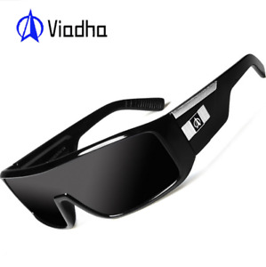 VIAHDA Large Frame Sport Sunglasses For Men Outdoor Driving Cycling Goggles Hot