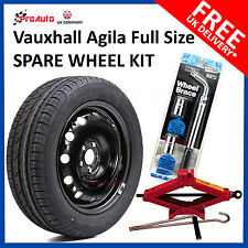 "Vauxhall Agila 2008-2017 15"" FULL SIZE STEEL SPARE WHEEL AND TYRE  FREE TOOL KIT"