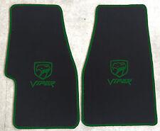 Autoteppich Fußmatten Chrysler Dodge Viper RT10 GTS schwarz grün Velours Neu