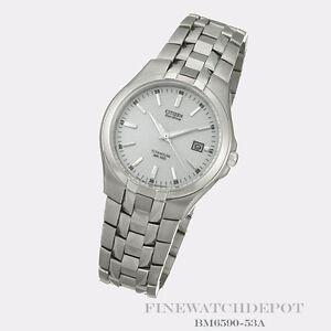 Authentic Citizen Eco-Drive Men's Stainless Steel Titanium Watch BM6590-53A