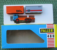 Faller Ams 480 Container Truck with Zinc Motor and 2 Containers, Unused