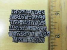 Vtg Lead Metal Letterpress Type Set Complete Alphabet Symbols Stymie Italic J7