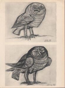 PABLO PICASSO - woman  owl  *  HELIOGRAVURE * VERVE 1951