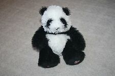 GANZ Stuffed Plush Webkinz Black White Panda