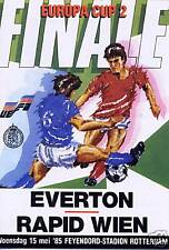 EUROPEAN CUP WINNERS CUP FINAL 1985 EVERTON v RAPID WIEN MINT REPRINT PROGRAMME