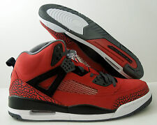 "NIKE AIR JORDAN SPIZIKE GYM RED-BLACK-GREY-WHT ""TORO BRAVO"" SZ 13 [315371-601]"