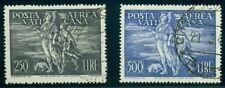 VATICAN CITY #C16-17 Airmail set, used, VF, Scott $385.00