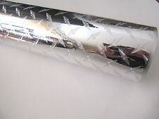 "Diamond Plate Silver Border Sign 12""x10Ft roll vinyl Adhesive Backed Die Cut"
