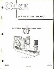 960-0222 Onan DFP Parts Catalog New