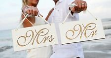 Wedding Signs Mr and Mrs, Handmade & Laser Engraved