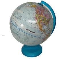 "Replogle Globemaster 12"" Inch Diameter World Globe Blue Plastic Base Rotates"