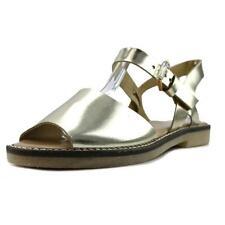 Calzado de mujer sandalias con tiras de color principal oro talla 38