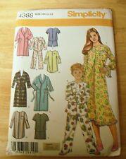 SIMPLICITY #4388 Children's Pajamas, Robe Pattern Size 3-6  UNCUT
