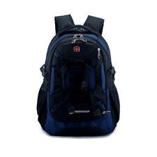 Casual Swiss Shoulder Bag Men Women Laptop Backpack Travel Bag School Bag Blue