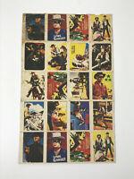 Antique Vintage Lone Ranger Mini-Playing card Sheet premium? advertising western