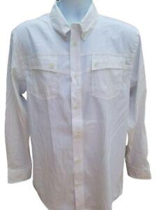 Marolina Outdoor Huk Legend White Long Sleeve Button Fishing Shirt S NWT