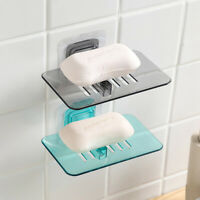 Soap Dishes Drain Holder Wall Mounted Storage Rack Soap Box Organizer Container