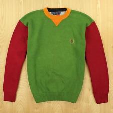 vtg 90's TOMMY HILFIGER sweater MEDIUM colorblock swag hip hop fresh prince
