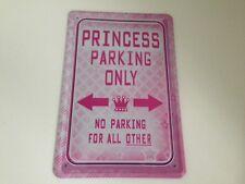 Princess parking only -  Blechschild 20x30 cm Prinzessin Parkplatz Garage 7