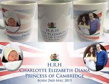 PRINCESS CHARLOTTE ELIZABETH DIANA #5 - ROYAL BABY MUG CUP - WILLIAM KATE DI