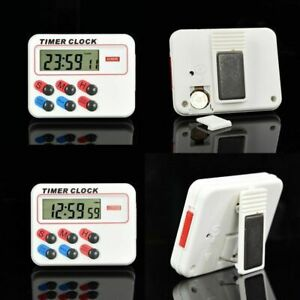 1Pcs Portable Digital LCD Kitchen Cooking Electronic 12/24 hours Timer Clock