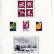 ICELAND 1987    4 Commemorative Issues. 8 Values. Mint Never Hinged. (AY344)