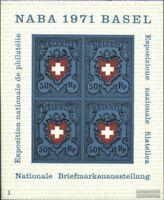 Schweiz Block21 (kompl.Ausgabe) postfrisch 1971 NABA Basel