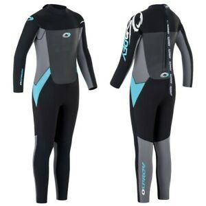 Osprey Origin 5/4mm Blue Wetsuit Kids Girls Full Length Winter Neoprene Steamer