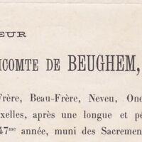 Henri Joseph Ghislain De Beughem Bruxelles 1885