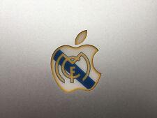 "3x FC Real Madrid CF Apple Glowing Macbook Logo Sticker 11""13""15"" - Perfect Fit"