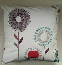 "Cushion Cover in Next Plum Retro Floral 16"" Matches Curtains Bedding"