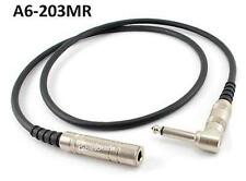 "3ft Premium 1/4"" (6.3mm) Female to Male Right-Angle Mono Audio Extension Cable"