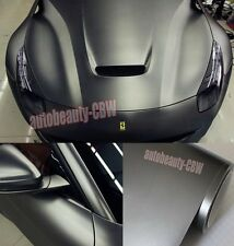"12"" x  60"" - Car Flat Metallic Matte Chrome Grey Vinyl Wrap Sticker Sheet CBW"