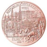 10 Euros Autriche 2015 Cuivre Wien
