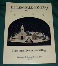 BUY 3=FREE SHIP CROSS STITCH BOOK Christmas Eve in the Village Langdale Company
