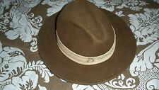 Vintage Dorfman Pacific Brown All Wool Hat/Fedora w/Yosemite Band-Indy Jones/EUC