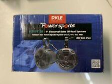 Pyle Plutv41Bk 2-Way Dual Waterproof Off-Road Speakers, 4 inch 800 Watt