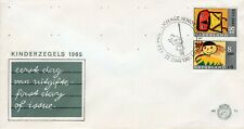 1965 NEDERLAND 2 STAMPS DESIGNED BY CHILDREN WOMAN & CHILD OFFICIAL COVER FDC