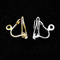 20 x Silver / Gold Plated Clip-On Jewellry Converted Earring Loop Finding 10x5mm